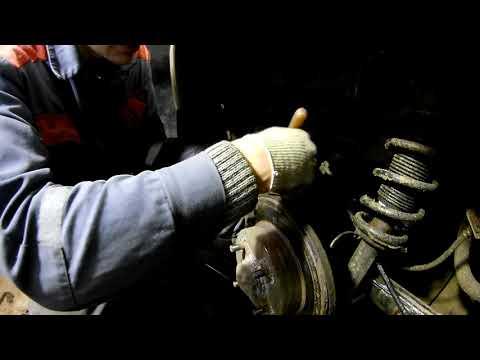 Nissan Almera N16 замена задних тормозных колодок