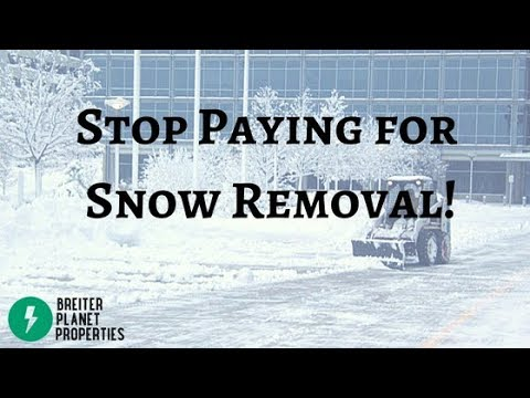 Stop Paying for Snow Removal!
