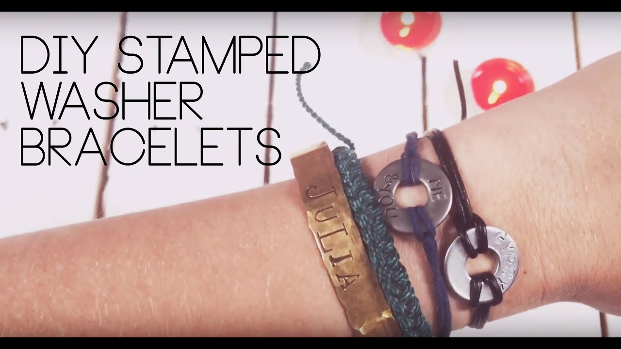 Diy Washer Bracelets Stamped
