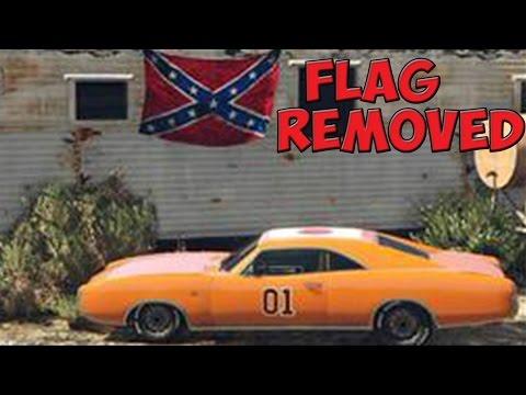 GTA 5 ONLINE: Confederate Flag Removed? - Rockstar Does Image Hotfix? New Images (GTA V)