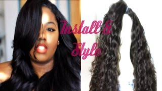 Installing, Cutting, Layering, & Styling My Deep Side Bang U-part ft. Aliexpress Grace Hair