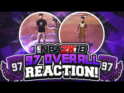 97 OVERALL REACTION! 2K SURPRISED ME WITH THIS REWARD! NBA 2K18 PLAYGROUND! HIGHEST OVERALL! 97 OVR!