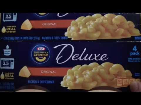 Kraft Deluxe Macaroni Cheese Mistake