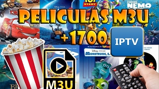 LISTA DE PELICULAS M3U +1700/ IPTV OTTPLAYER/ SMART TV LG APPS/ M3U