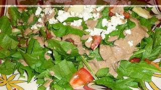 Spinach Salad (with Homemade Dressing) Recipe By Manjula