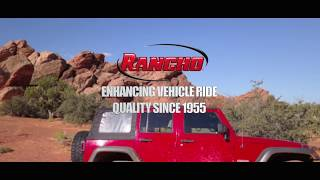 "Rancho  4"" CRAWLER short arm system overview for the Jeep Wrangler JK"