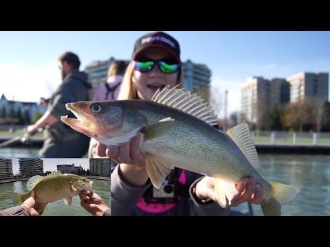 Walleye Fishing & STURGEON ON!! (Detroit River)