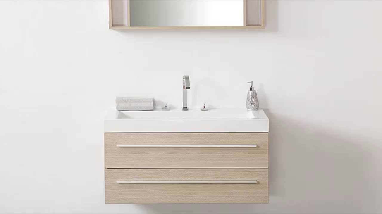 Beliani modern malaga bathroom vanity with sink cabinets and mirrors - Beliani Bathroom Furniture Beige With Wash Basin Cabinets And Mirror Barcelona Eng