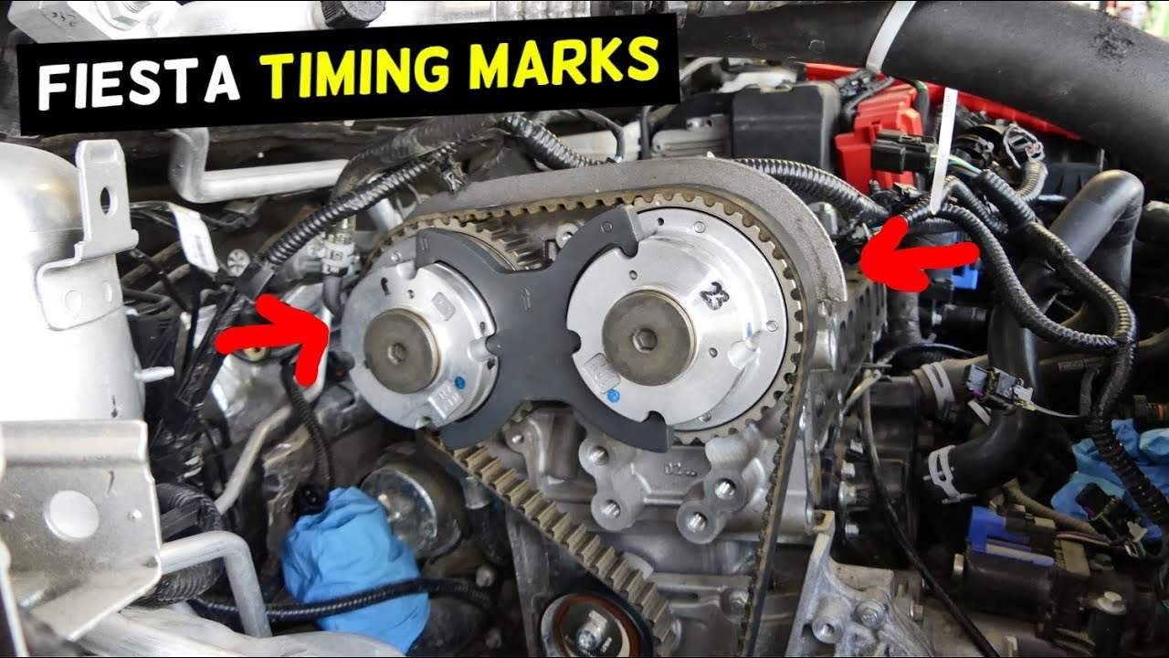 ford fiesta timing marks mk7 2011 2012 2013 2014 2015 2016 2017 2018 [ 1280 x 720 Pixel ]