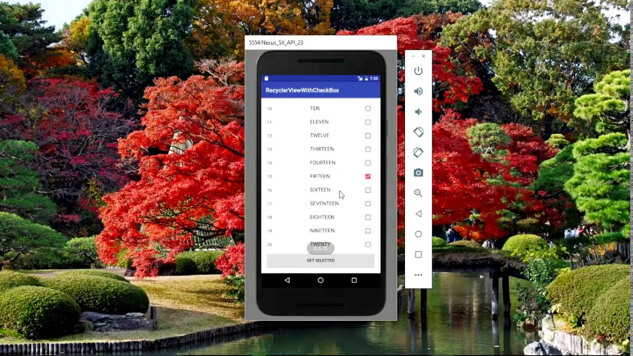 Simple recyclerview example with checkbox in Android