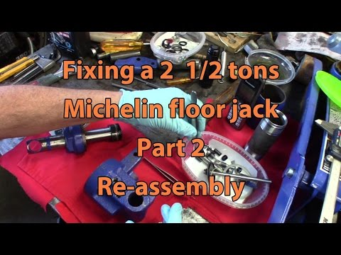 Michelin 2 1/2 tons floor jack repair, Part 2, re-assembly
