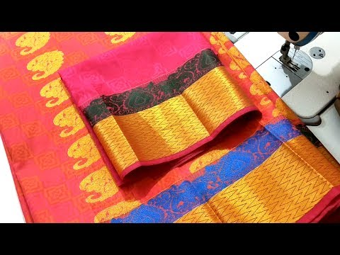 Simple Silk Saree Blouse Design Easy and Good looking Blouse Design