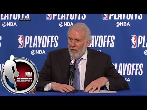 [FULL] Gregg Popovich on loss to Warriors: 'I don't put adjectives on losses' | NBA on ESPN