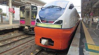 【車内放送 ・オルゴールあり / 車窓】JR東日本 特急つがる2号 秋田行 青森→新青森間
