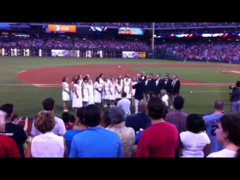 Savoy Company National Anthem at Phillies 8/27/2014