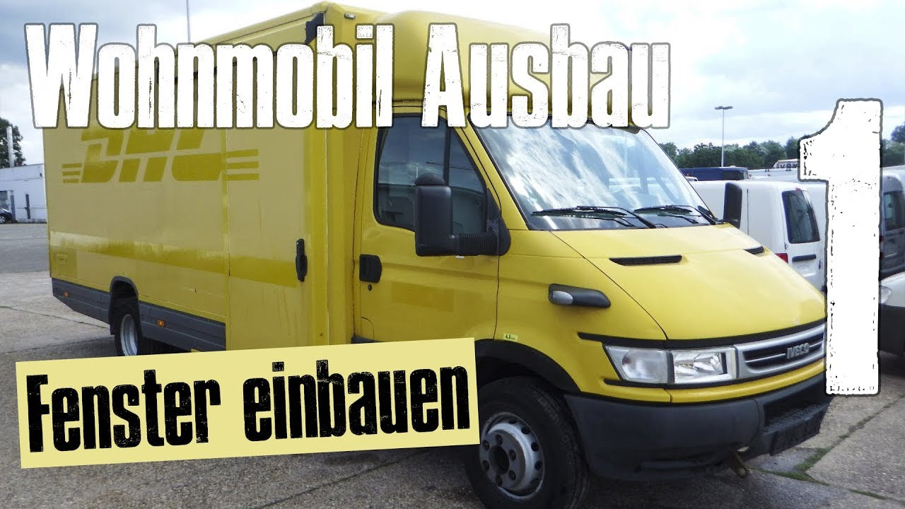 wohnmobil ausbau fenster einbauen vlog 01 youtube. Black Bedroom Furniture Sets. Home Design Ideas