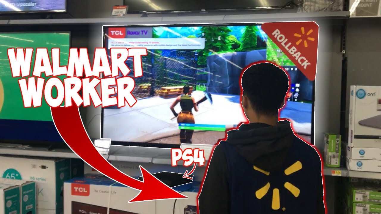 Walmart Worker Plays Fortnite In Walmart Youtube