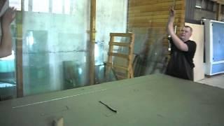 Резка стекла триплекс(Видео по резке стекла