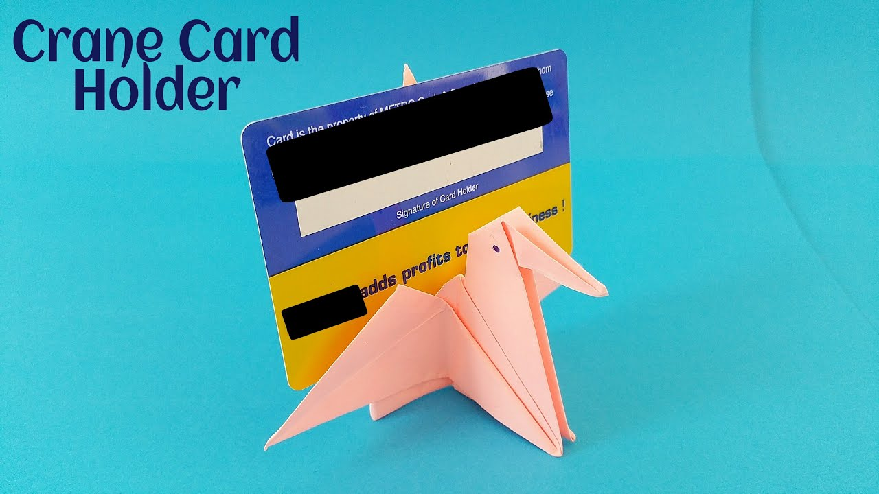 Crane Card Holder Diy Origami Tutorial By Paper Folds Simple And Easy