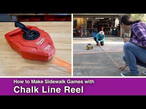 Sidewalk Games with a Chalk Line Reel