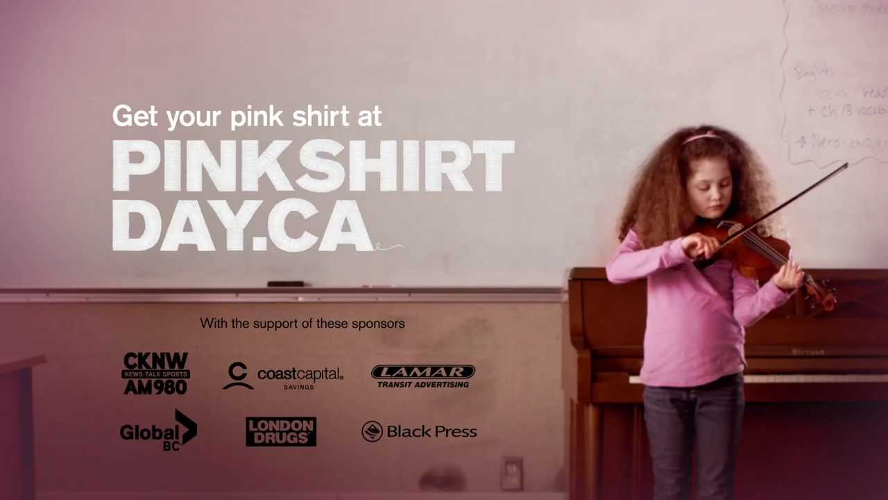 Pink Shirt Day PSA 2014 - YouTube