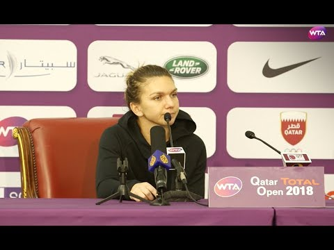 2018 Qatar Open press conference: Simona Halep withdraws from Doha
