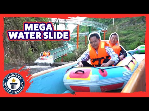 Don Action Jackson - The Longest Water Slide Ever Is On A Mountainside In China