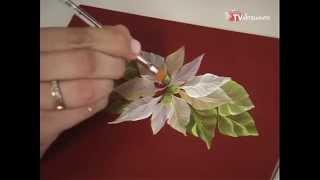 Pintura Gestual Flor de Natal