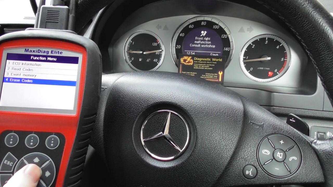 Mercedes C Class Common Airbag Failure & Reset
