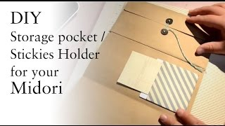 DIY Storage Pocket / Stickies Carrier For Your Midori