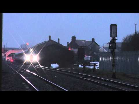 68005 passing near Llanelli on the 1Z68 Carmarthen to Edinburgh football special 13/02/2015