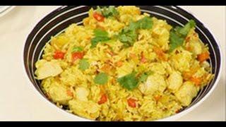 Быстрый ужин - курица с рисом (