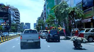 southern views of the central phnom penh area on monivong boulevard cambodia