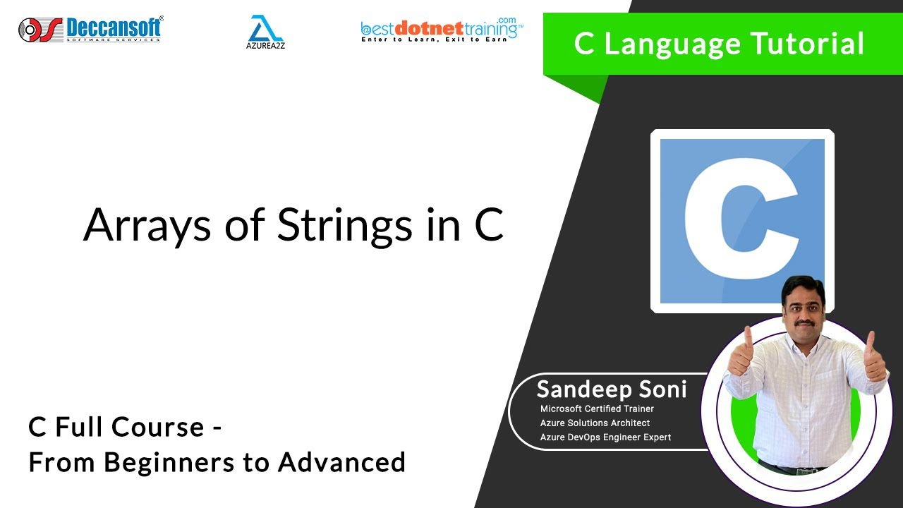 Array of string in c programming language youtube array of string in c programming language baditri Gallery