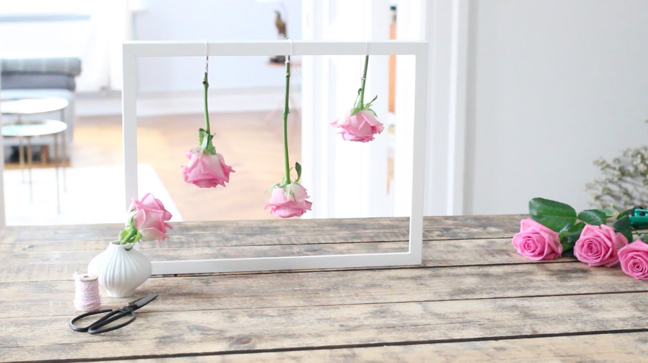 Rosen im Rahmen  Rosen trocknen  DIY  YouTube