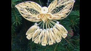 Paper Quilled Christmas Angel Ornament - Quilling Craft for Kids