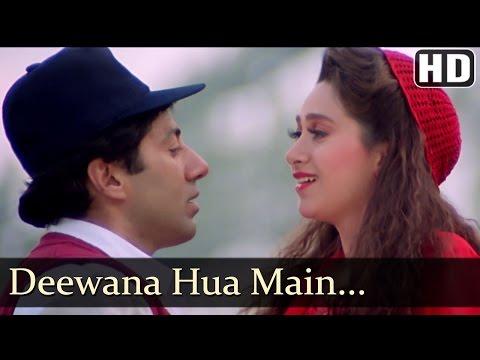 Deewana Hua Main Deewana - Ajay Songs - Sunny Deol - Karishma Kapoor - Kumar & Alka Hits - Romantic