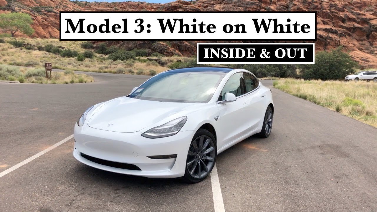 Tesla Model 3 White On White Inside Out Quick Visual Review Youtube Tesla Model Tesla Dream Cars