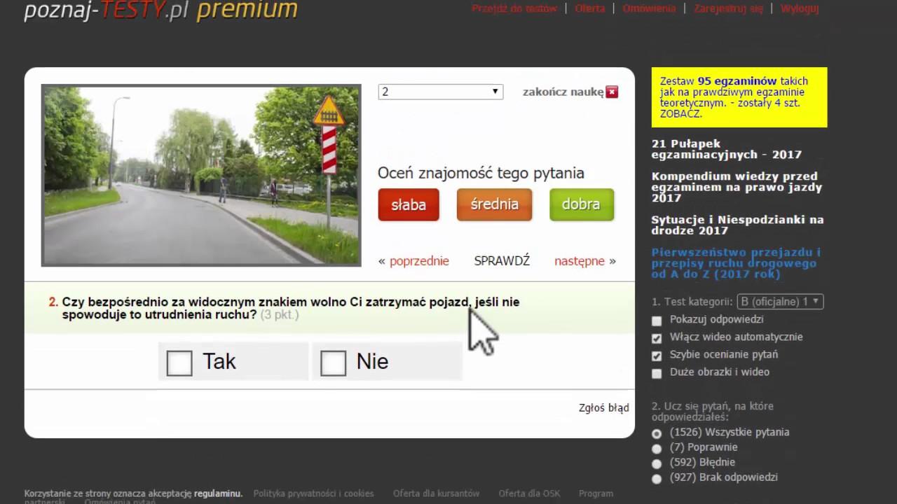 niemieckie testy na prawo jazdy po polsku
