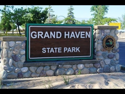 Grand Haven Campground >> Grand Haven State Park Campground, Michigan - YouTube