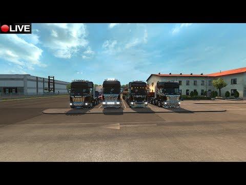 ETS2 2.0 || Convoy de empresa LRG LOGISTICA || Amsterdam-Uppsala || Low Rider Games Live