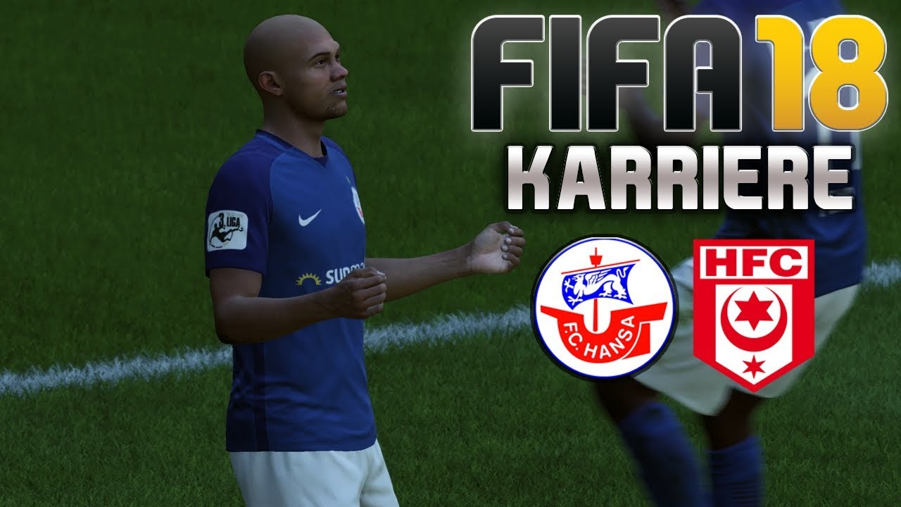 Fifa 18 Karriere S01e37 Hansa Rostock Vs Hallescher Fc Let S Play Youtube