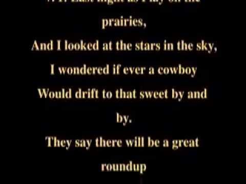 A Cowboy's Dream   Music and Lyrics