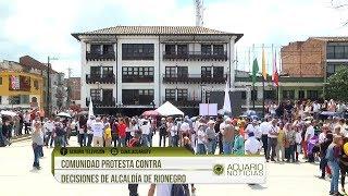 Comunidad protesta contra decisiones de alcaldía de Rionegro