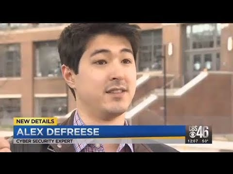Interview w Alex DeFreese - Hacking of Atlanta City Hall - CBS 46 News  23Mar2018