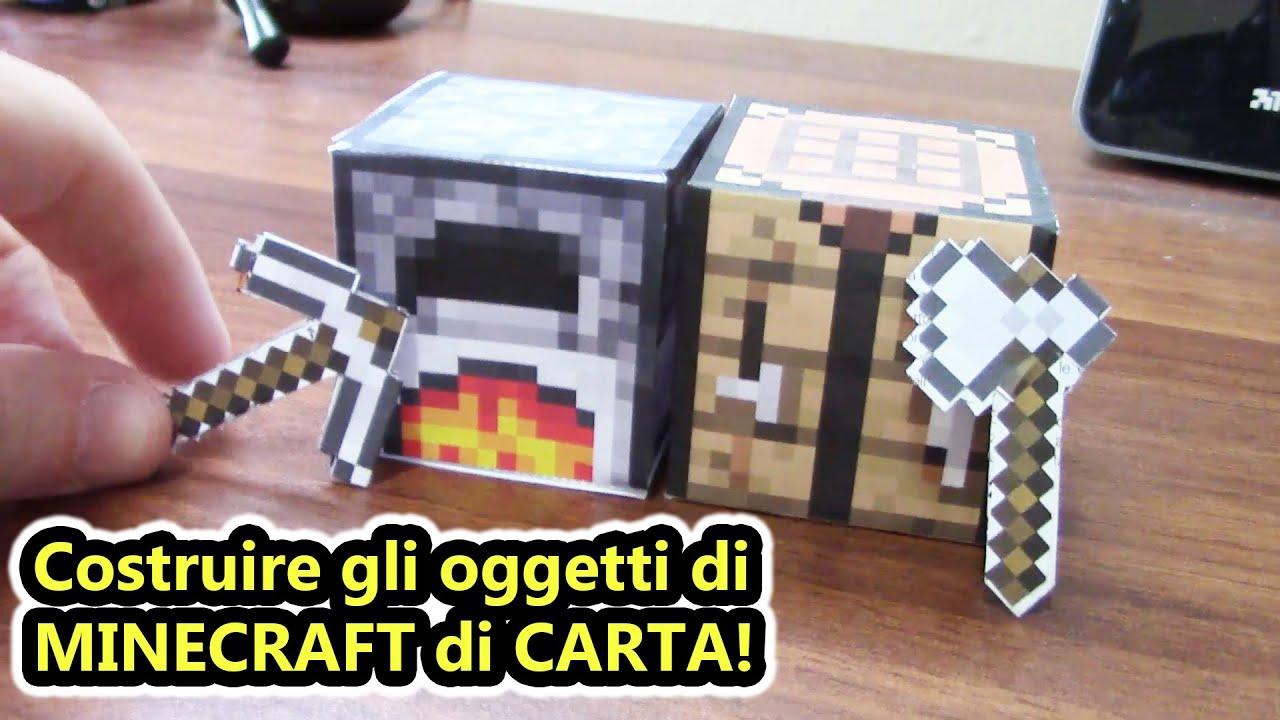 Come Fare Un Banco Di Lavoro Su Minecraft : Minecraft reale costruire gli oggetti di minecraft con la carta