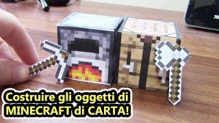 Minecraft REALE! - Costruire gli oggetti di Minecraft con la carta! - Papercraft 1 - (Salvo Pimpo's)