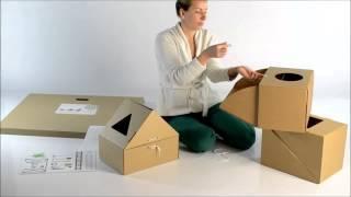 Developmental Carton Toy-box For Children, Attīstošās Mantu Kastes Bērniem