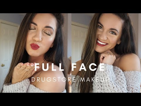 FULL FACE USING ONLY DRUG STORE MAKEUP FT  MAYBELLINE, NEUTROGENA AND MORE  ALISE MARIE