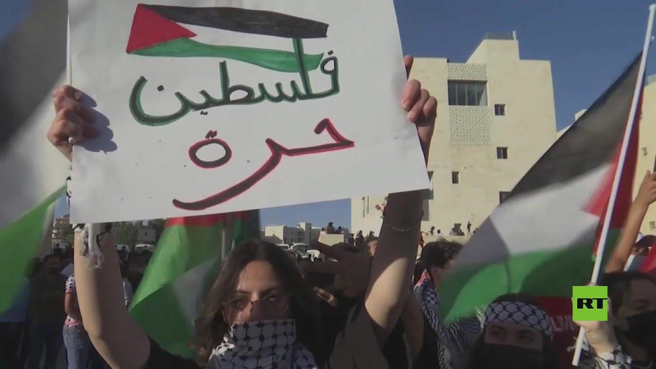 مظاهرة احتجاج جديدة أمام سفارة إسرائيل في العاصمة الأردنية عمان  - نشر قبل 2 ساعة